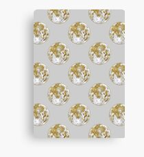 Golden Moon Pattern Canvas Print