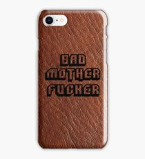 Bad Motherfucker Leather - Pulp Fiction iPhone Case/Skin