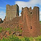 Goodrich Castle set on a woody hill in England by Grace Johnson
