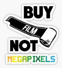 Buy Film Not Megapixels Sticker