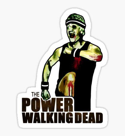 The Power Walking Dead (on Green) [ iPad / iPhone / iPod Case   Tshirt   Print ] Sticker
