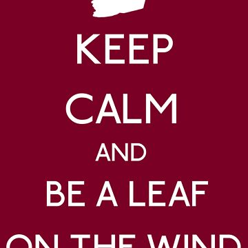 Keep Calm And Be A Leaf On The Wind by withoutwax94