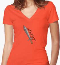 AVAST - Iron Edition Women's Fitted V-Neck T-Shirt