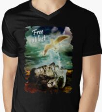Free at Last Men's V-Neck T-Shirt