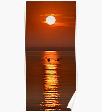 Sunset Kayakers Poster