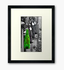 1 Green Bottle hanging on the wall Framed Print