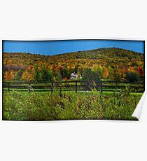Fall Landscape On the Other Side of the Fence Poster