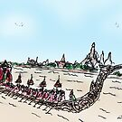 Thailand Royal Barge by joelwilluk