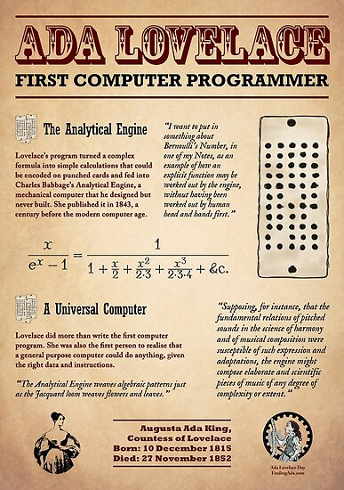 Ada Lovelace: First Computer Programmer by AdaLovelaceDay