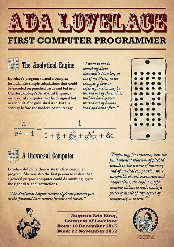 Quot Ada Lovelace First Computer Programmer Quot By