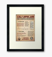 Ada Lovelace: First Computer Programmer Framed Print