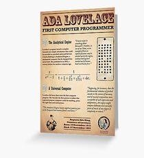 Tarjeta de felicitación Ada Lovelace: primera programadora de computadoras