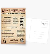 Ada Lovelace: First Computer Programmer Postcards