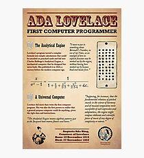 Lámina fotográfica Ada Lovelace: primera programadora de computadoras
