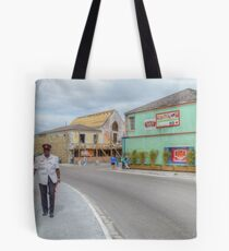Entering Downtown Nassau from the West side in The Bahamas Tote Bag