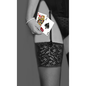 YOUR THE QUEEN OF DIAMONDS HONEY IM THE ACE OF SPADES IPHONE CASE by Rapture777