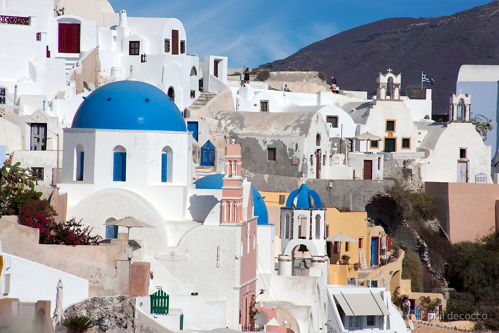 Oia Streetscape by phil decocco