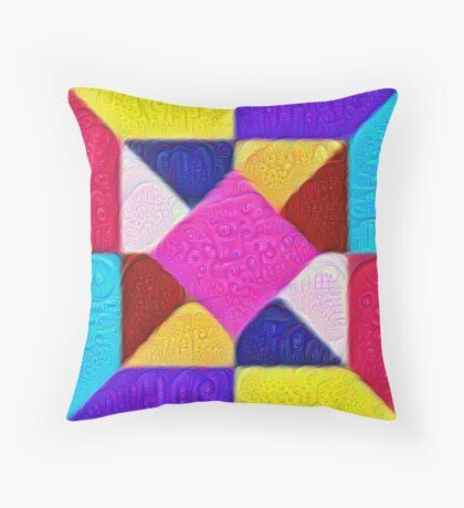 DeepDream Color Squares Visual Areas 5x5K v1447942584 Throw Pillow