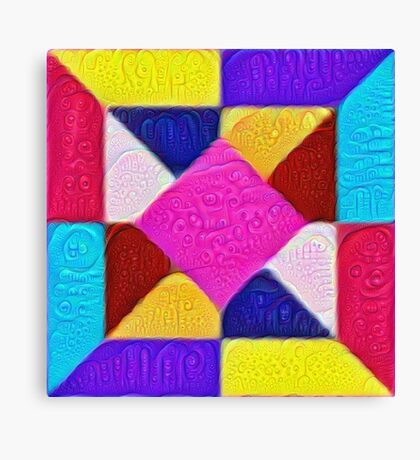 DeepDream Color Squares Visual Areas 5x5K v1447942584 Canvas Print