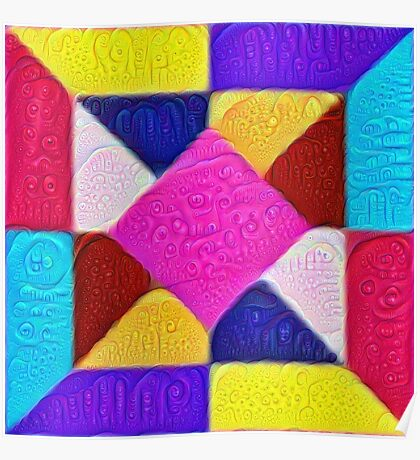 DeepDream Color Squares Visual Areas 5x5K v1447942584 Poster
