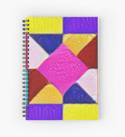 DeepDream Color Squares Visual Areas 5x5K v1447942584 Spiral Notebook