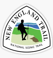 New England National Scenic Trail Sign, USA Sticker