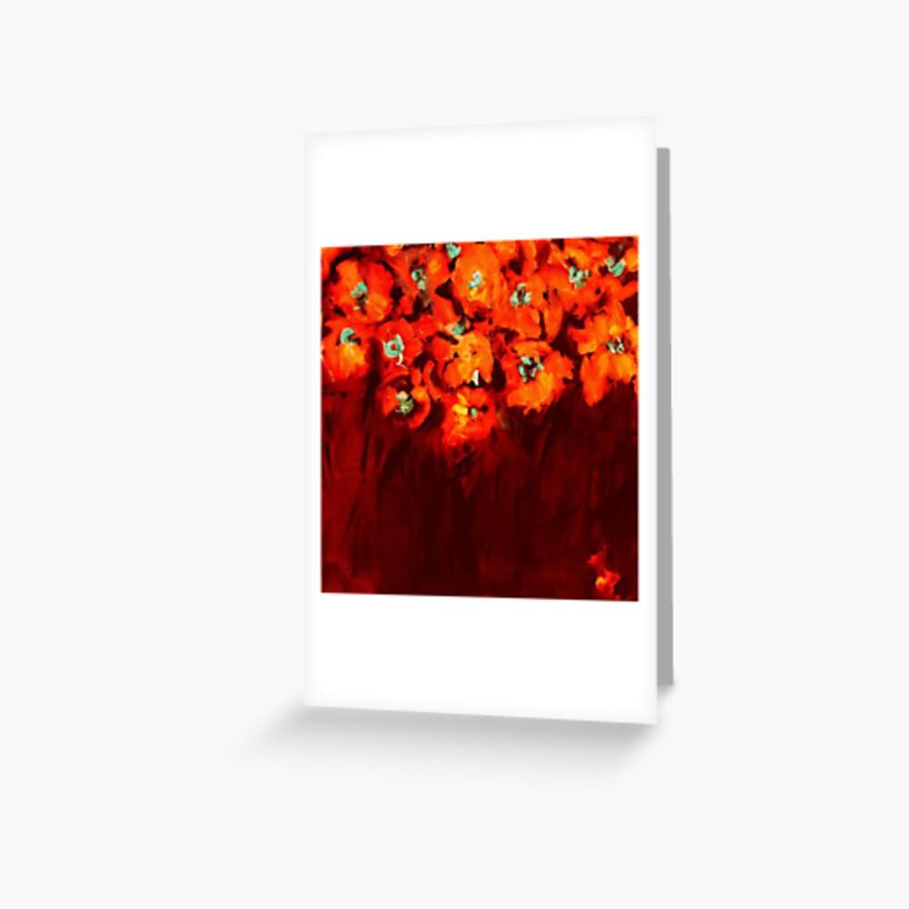 Habibiflo orange Greeting Card