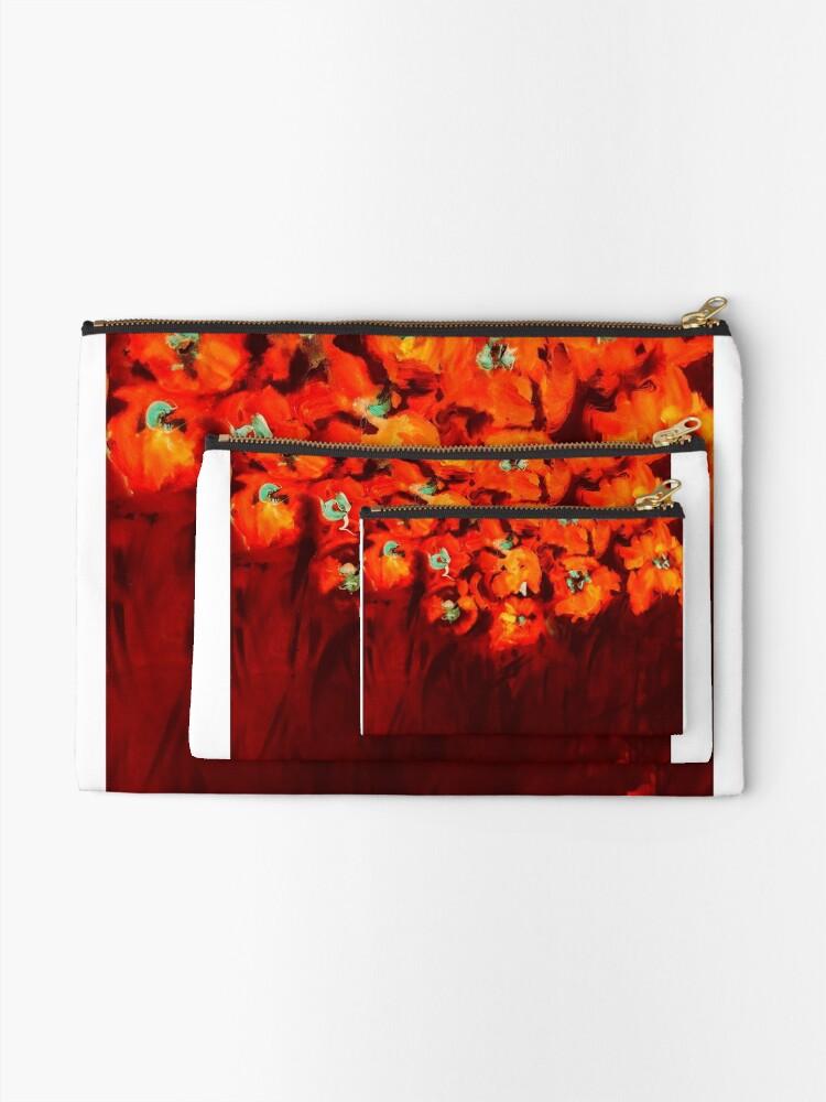 Alternate view of Habibiflo orange Zipper Pouch