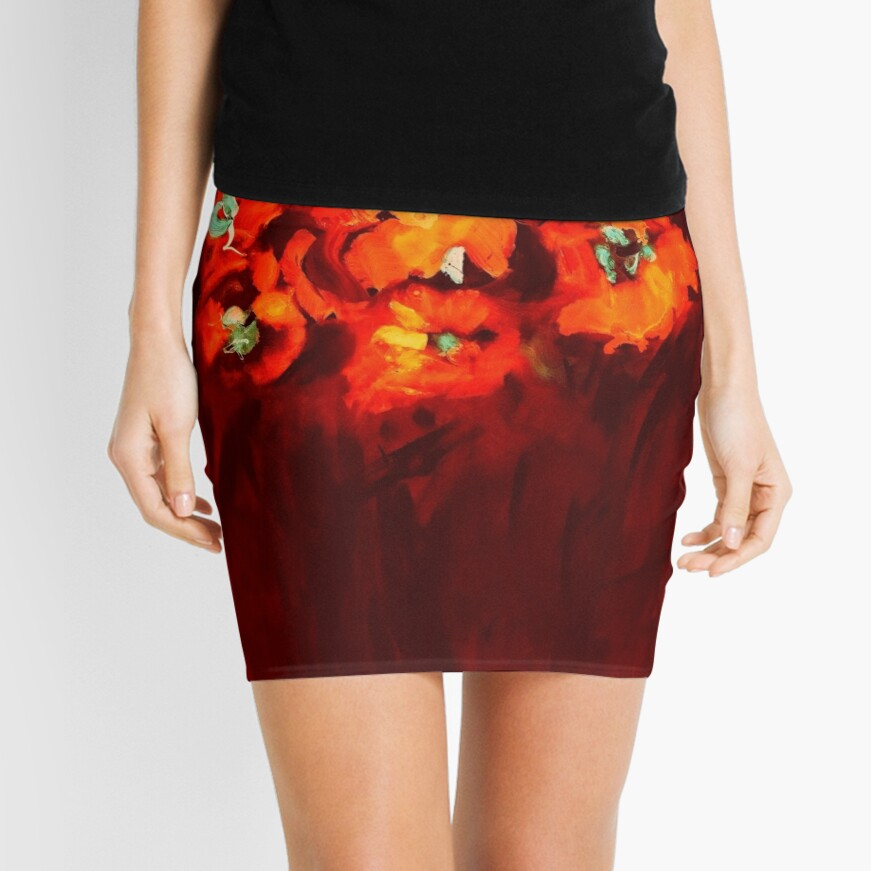 Habibiflo orange Mini Skirt
