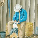 Best Buddies Oil Painting by Barbara Applegate