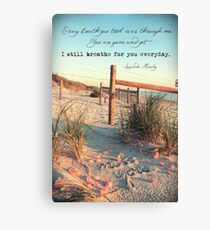 September 2013 - Lost For Words Canvas Print