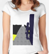 purple girl Women's Fitted Scoop T-Shirt