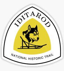 Iditarod Trail Sign, Alaska, USA Sticker