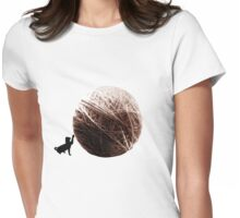 Kitty with a little Ball Womens Fitted T-Shirt