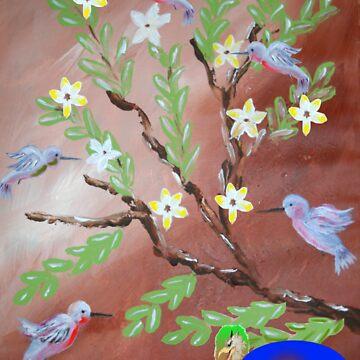 Hummingbirds by LeonRice