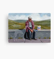 I wonder if the ol' girl misses me as much.. Canvas Print