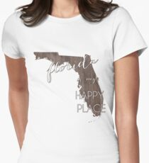 Florida is my Happy Place Women's Fitted T-Shirt