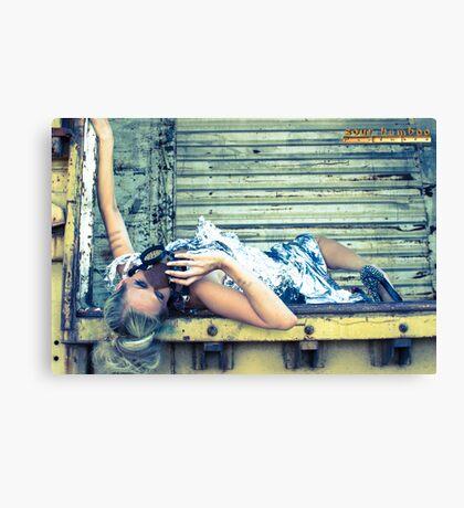 steampunk foil Canvas Print