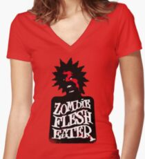 Zombie Flesh Eater Women's Fitted V-Neck T-Shirt