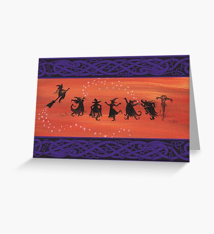 Witchy Halloween Celebration. Greeting Card