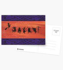 Witchy Halloween Celebration. Postcards