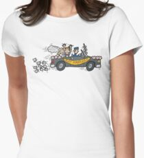 """Honeymoon """"Just Married"""" Womens Fitted T-Shirt"""