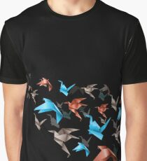 Flying Origami Graphic T-Shirt