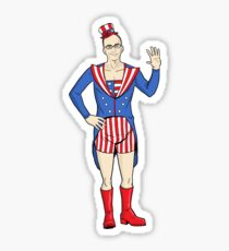 Patriotic Dean Sticker