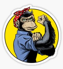 Chimp Power! Sticker