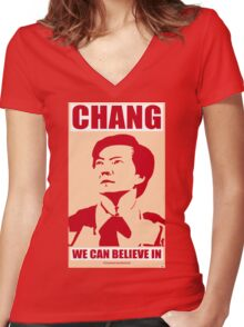 Chang We Can Believe In Women's Fitted V-Neck T-Shirt