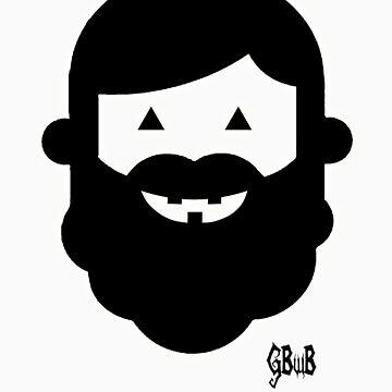 Halloween Beardy Boy - Black by gbwb