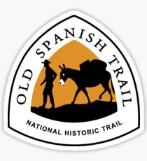 Old Spanish Trail Sign, USA Sticker