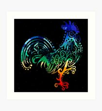 Inked Rooster Art Print