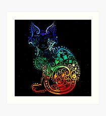 Inked Cat Art Print